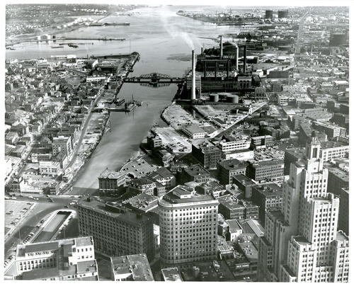 Aerial view of Providence Harbor