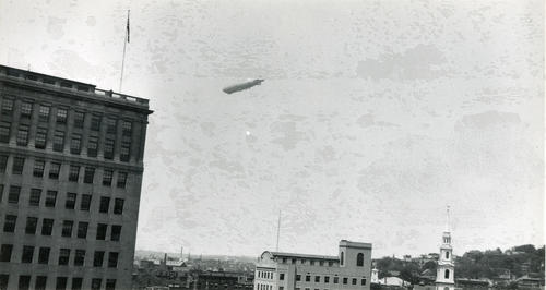 Los Angeles (Dirigible) over Providence
