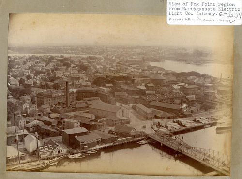 View of Fox Point region from Narragansett Electric Light Co. chimney