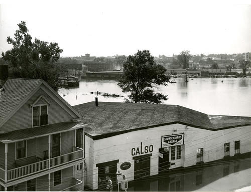 Blackstone River flood; Business and Residential area, Social Street