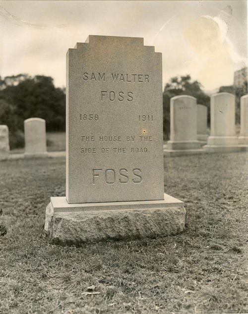 Sam Walter Foss-gravestone, North Burial Ground Providence