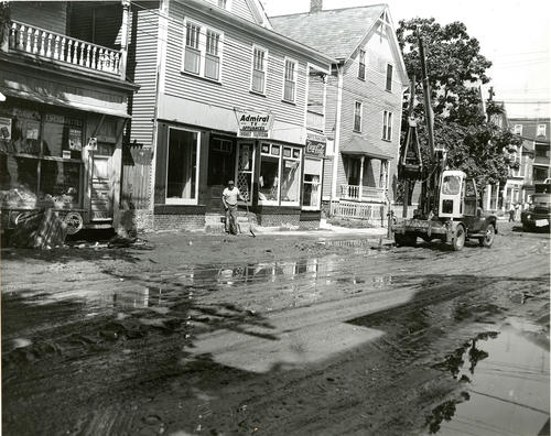 Blackstone River flood; Cleanup of Ives Street area
