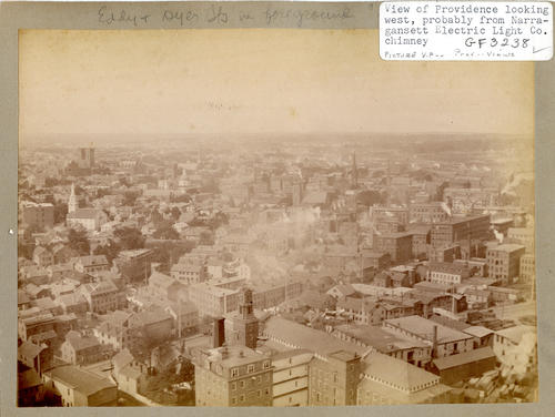 View of Providence looking west, probably from Narragansett Electric Light Co. chimney