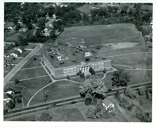 Aerial view of Aldrich Jr. High School, Warwick