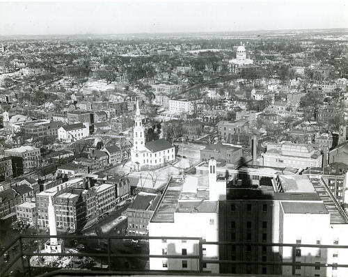 View of Providence looking northeast, possibly taken from roof of Rhode Island Hospital Trust