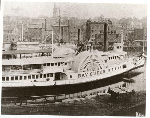 S.S. Bay Queen at dockside