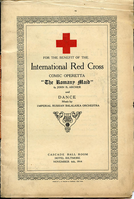 """The Romany Maid"" Red Cross benefit program"