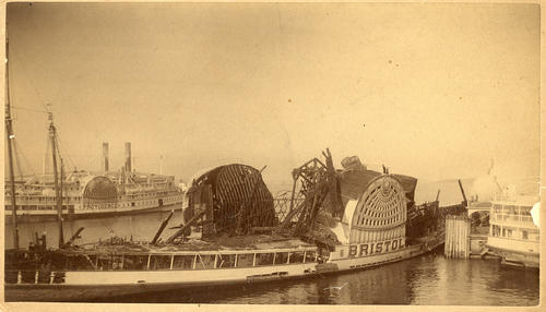 Bristol (Steamer) fire wreckage