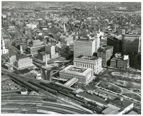 Aerial view of downtown Providence