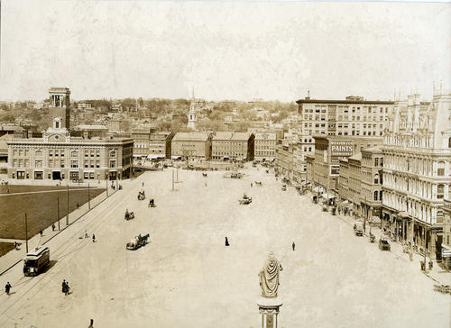 Exchange Place, Providence, Near the Turn of the Century