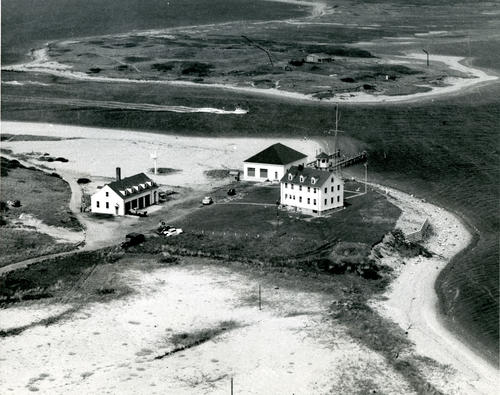 Aerial view of Lifeboat Station, Block Island