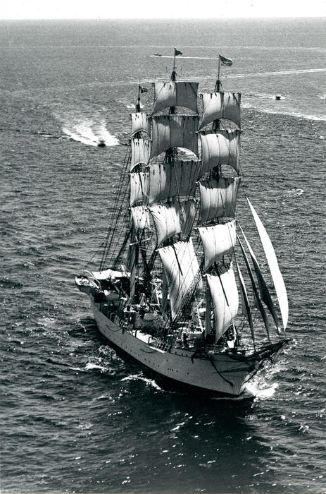 """Danmark"" - Denmark, Full rigged ship, built 1933"
