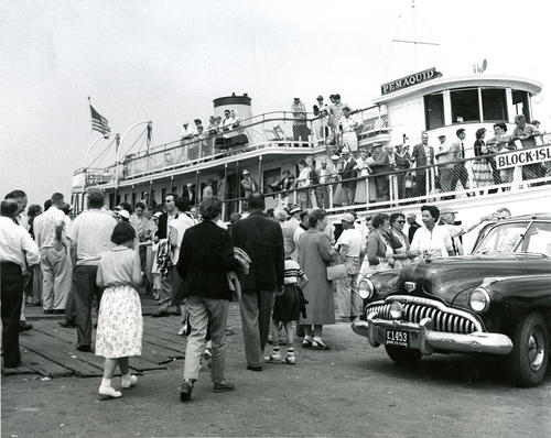 Excursion steamer docked at Block Island
