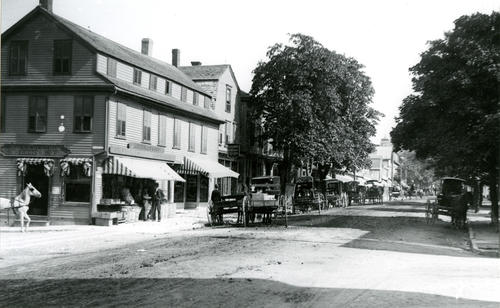 Broadway, West Side, at Farewell Street, Newport