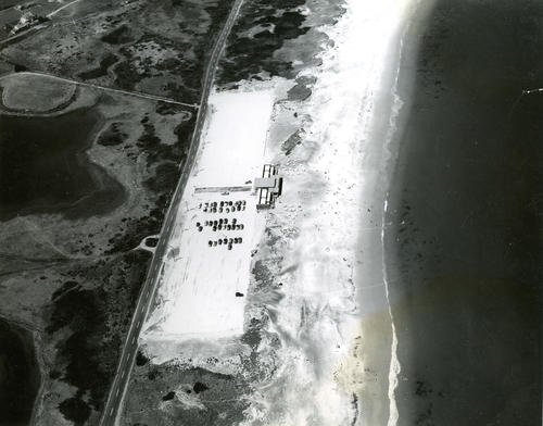 Aerial view of Gooseberry Beach, Newport