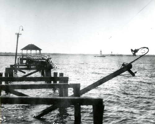 Elm Street Pier, Newport, Following 1938 Hurricane