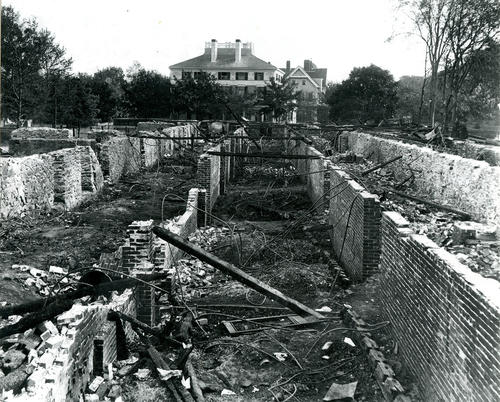 Bellevue Avenue, Newport; Ruins of Ocean House