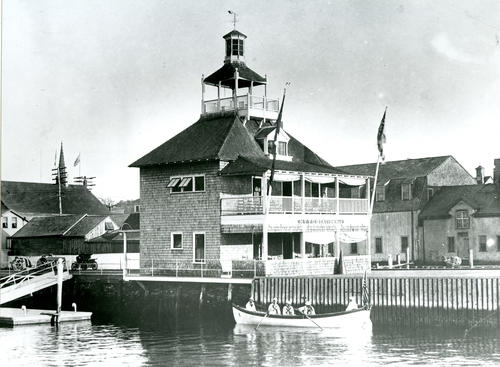 New York Yacht Club, foot of Sayer's Wharf; Newport