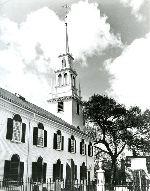 Side View of Trinity Church, Newport