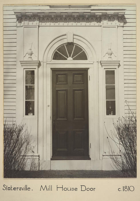 Slatersville. Mill House Door. c.1810