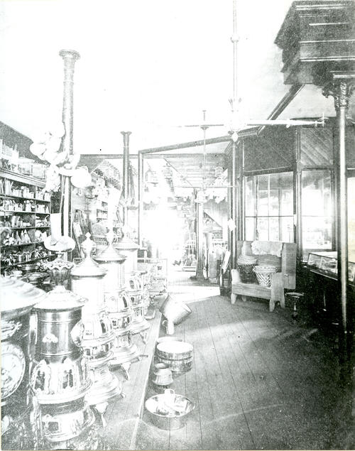 Interior, Covell's Store; Thames Street