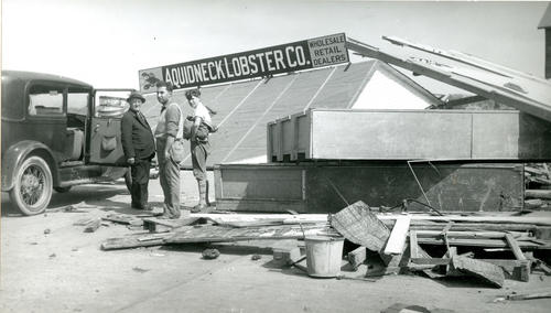 Long Wharf at Washington Street, 1938 Hurricane