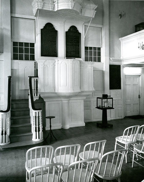 Pulpit and Stairway of Seventh Day Baptist House, Newport