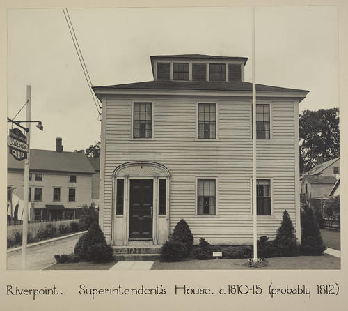 Riverpoint. Superintendent's House. c. 1810-15 (probably 1812)
