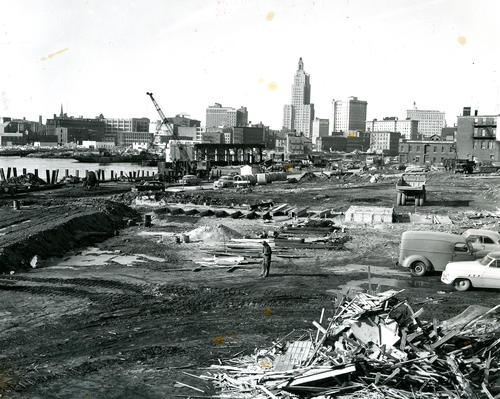 Providence River Bridge construction