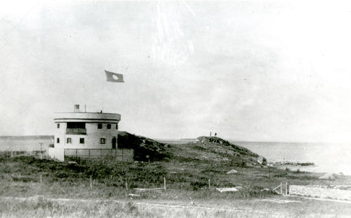 Round House, Jamestown [flying Berwin Coal Co. flag]