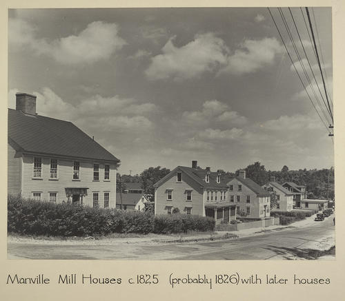 Manville. Mill Houses c. 1825 (probably 1826) with later houses