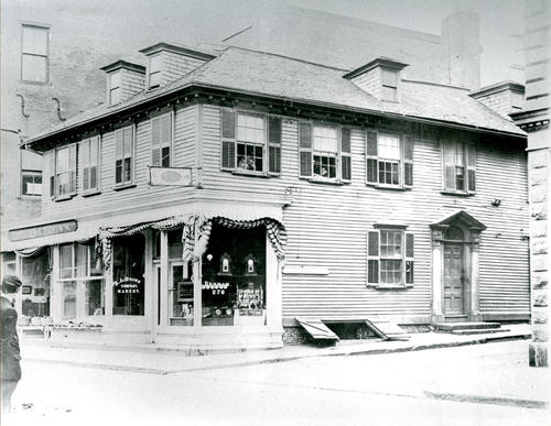 Thames Street, east side, between Green & Pelham Streets; Comm. Perry was married in this house