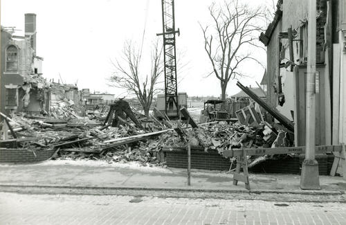 Demolition of Police Station, Boston Store, etc