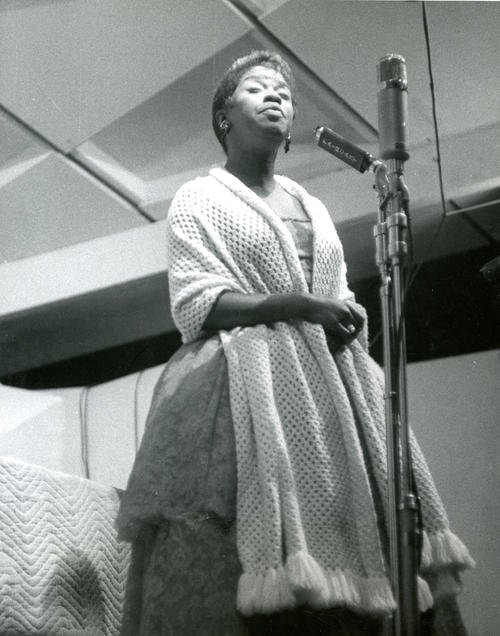 Sarah Vaughan Performing at Newport Jazz Festival