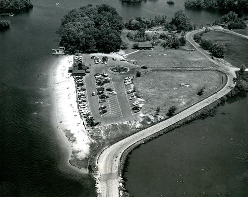 Aerial View of Beach Area of Lincoln Woods, Lincoln
