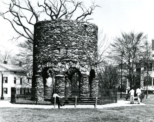 Photograph of Old Stone Mill in the 1950's