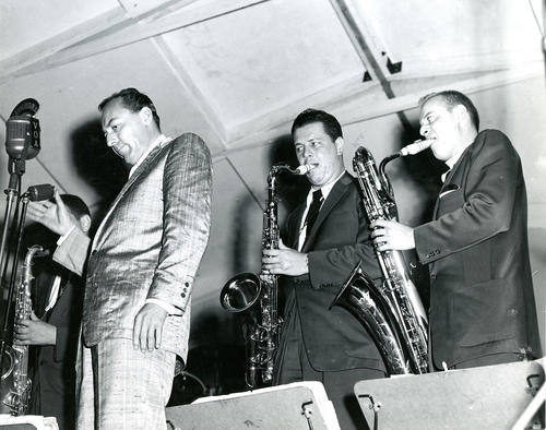 Performing at Festival; Woody Herman, Jack Nimitz, Dick Hafer