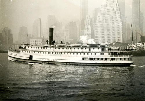 Colonial Line Steamer in New York Harbor