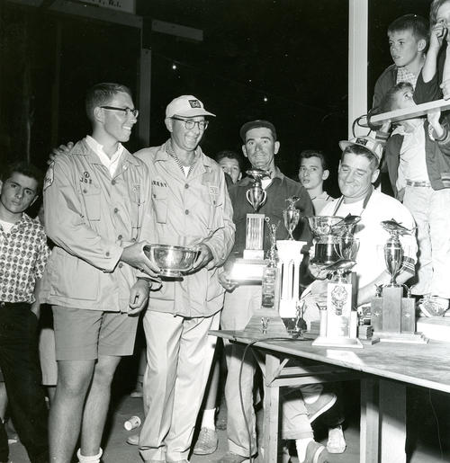 Contestants accepting trophies at Galilee