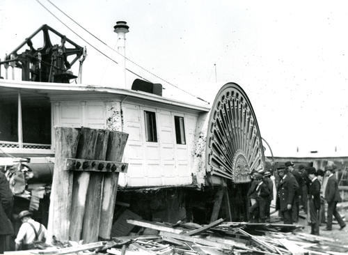 SS Eolus After a Collision