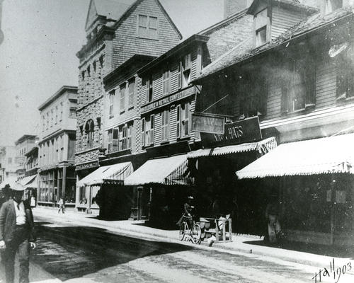 Thames Street, East Side North from Mill Street, Newport