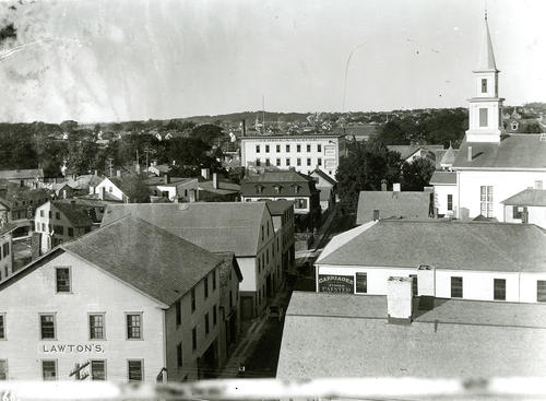 Spring Street, North From the Myer Block Roof, Newport