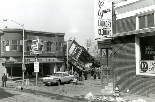 Demolition of Boston Store, Eddy's Market