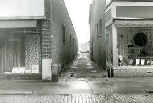 Thames Street Alley Between Ley's Century Store and Queen Ann Building