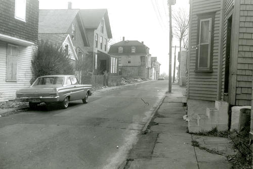 Levin Street (Upper) Looking West - Site of Vernon Furniture Co., Newport