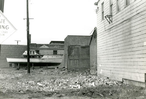 Swan Ave. - Side of Captain Purdy's House - From Sherman's Wharf