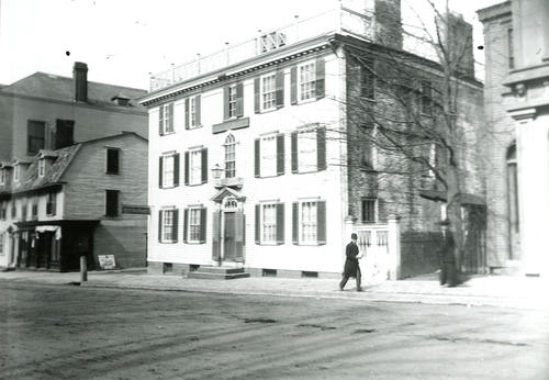 Washington Square, Corner of Prison Lane; Brickhead House & Old Tavern, Newport