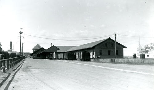 Railroad Station and Steamship Dock, Newport