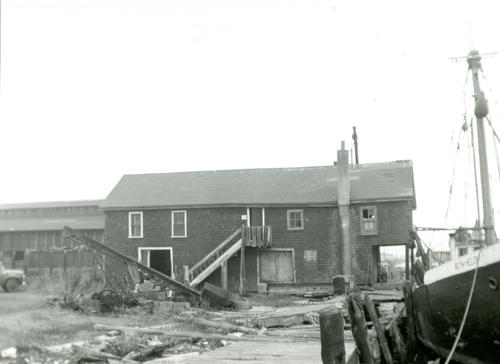 Sherman's Wharf; Fish House & Office of Seaconnet River Fish Company