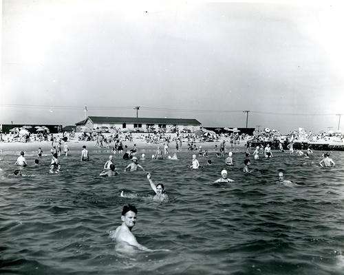 Bathers at Sand Hill Cove State Beach